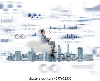 Investor with the capital market, Investment concept.