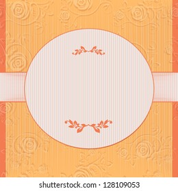 Invitation card with rose flower. Yellow romantic illustration background. Rose seamless background floral pattern. Vintage wallpaper flower texture. (vector format also available in my portfolio)