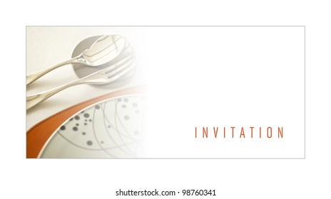 Dinner invitation images stock photos vectors shutterstock invitation to a dinner stopboris Choice Image