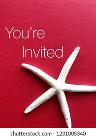 """Invitation / greeting card concept. """"You're Invited"""""""