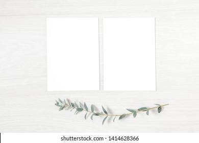 Invitation Mock Up, Classic Wedding Invitation, Minimal Spring Template, Blank Card 5x7