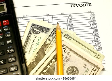 Invoice being paid concept