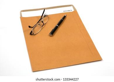 invoice, estimates and statements in folder
