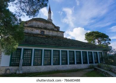 Ioannina, Greece- December 2017: Aslan Pasha Mosque in the fortress of Ioannina in Greece