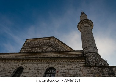 Ioannina, Greece/ December 2017: Aslan Pasha Mosque in the fortress of Ioannina in Greece