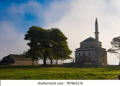 Ioannina, Greece/ December, 2017: Aslan Pasha Mosque in the fortress of Ioannina in Greece