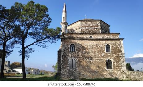 ioannina Greece inside its kale castle museum byzantine castle fort of turkish ottoman empire and ali pasha grave epirus greece