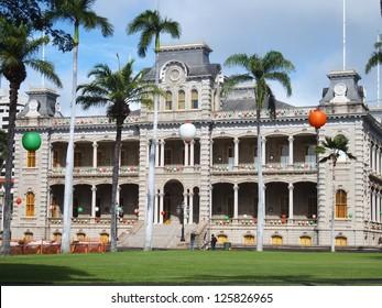 Iolani Palace in Oahu, Hawaii