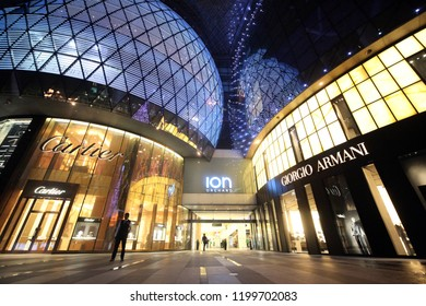 the ION Shopping Mall at the Orchard Road in the city of Singapore in Southeastasia.    Singapore, December, 2009