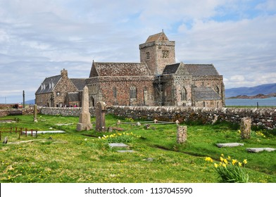Iona Abbey on the Isle of Iona. Scotland