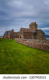 Iona Abbey in vertical composition