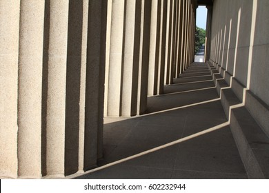 Ionic building columns