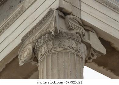 Ionic Column at Acropolis, Athens, Greece