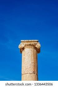 Ionic Column, Jerash, Jerash Governorate, Jordan