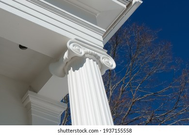 Ionic column of Old town hall of Lincoln