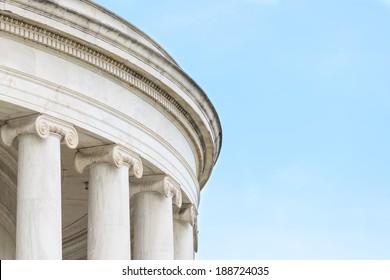 Ionic Columns at Jefferson Memorial in Washington DC