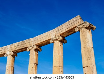 Ionic Columns, Jerash, Jerash Governorate, Jordan