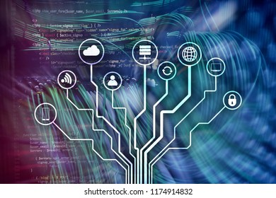IOT, Internet of things, telecommunication concept.