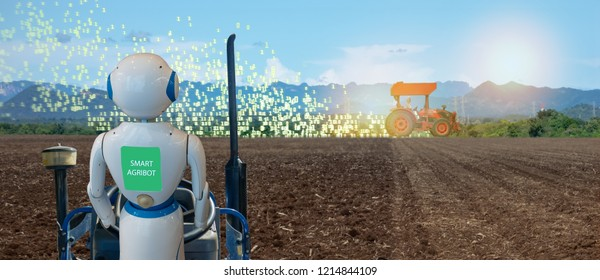 iot smart farming, agriculture in industry 4.0 technology with artificial intelligence and machine learning concept. it help to improve, categorized, specified goal, solve problem, keep goal, predict