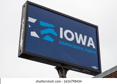 IOWA CITY, IA - January 15, 2020: Democratic Race Heats up in Iowa with Caucus set for Feb. 3rd