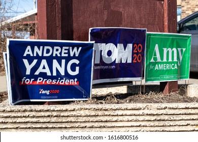 IOWA CITY, IA - January 15, 2020: Democratic Race Heats up in Iowa with Caucus set for Feb. 3rd