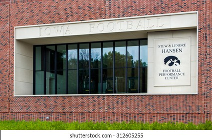 IOWA CITY, IA/USA - AUGUST 7, 2015: Stew and Lenore Hansen Football Performance Center at the University of Iowa. The University of Iowa is a flagship public research university.