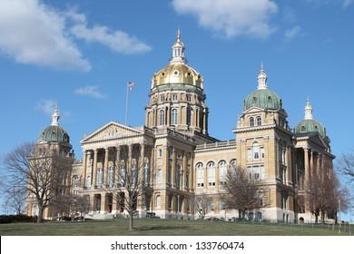 Iowa State Capitol Building in Des Moines, Iowa.