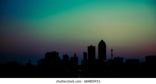 Iowa sunset city