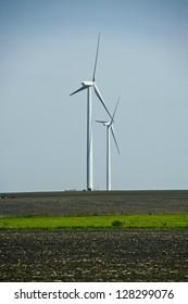 Iowa Wind Turbines. Alternative Energy - Wind Energy Theme. Wind Turbines in Iowa, USA. Energy Photography Theme