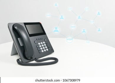 IP Phone with icon - cencept for phone connected to multi device