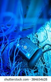 IP phone in network room .