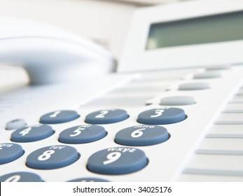 IP phone on white background