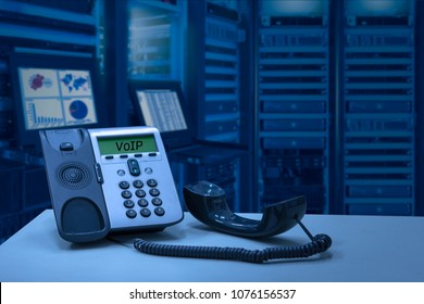 IP Telephone device with data center room