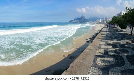 Ipanema Beach Rio de Janeiro boardwalk