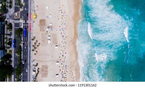 Ipanema beach at summer