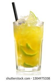 Ipanema - Non alcoholic Cocktail on white Background