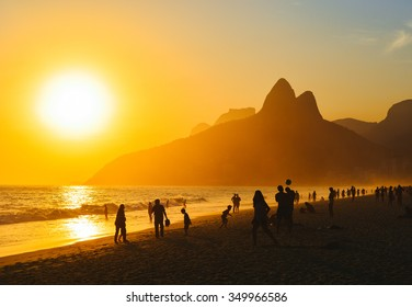Ipanema Sunset in Rio de Janeiro