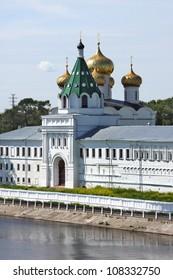 Ipatievsky monastery in Russia, Kostroma city, summer season