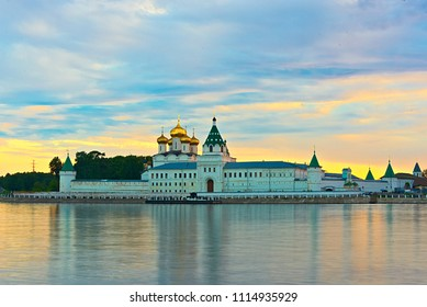 Ipatievsky monastery in the summer, in the evening. Russia, Kostroma.