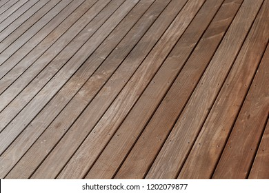 Ipe wood plank terrace