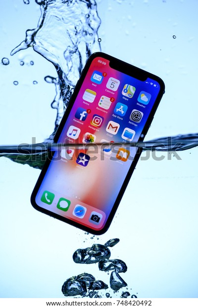 check out bdb30 f7993 Iphone X Water 20171104 Product Photoshoot Stock Photo (Edit Now ...