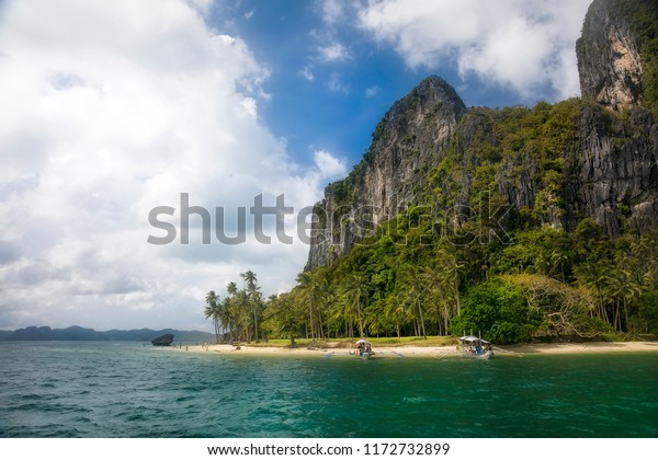 Ipil Beach On Pinagbuyutan Island Near Stock Photo Edit Now
