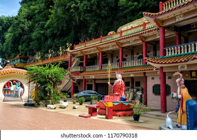 Ipoh, Malaysia - Apr 15, 2018: Ling Sen Tong, Temple cave, Ipoh, Malaysia. Ling Sen Tong is a beautiful Taoist cave temple located at the foot of a limestone hill in Ipoh, Perak.