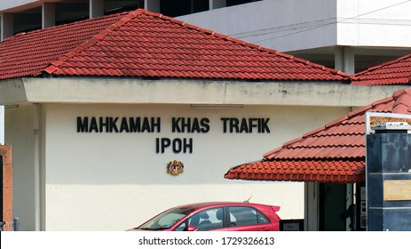 Ipoh, malaysia- April 16 2019: Ipoh Magistrate Court, it is located along side Session Court, which shared the same building. Mahkamah Khas Trafik Ipoh is next to the building.