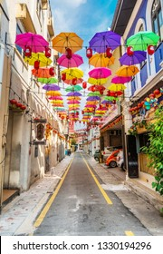 IPOH , MALAYSIA - March 05,2019 : Ipoh famous heritage trail walk in the old town of Ipoh, Perak, Market Lane
