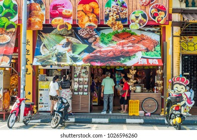 Ipoh, Perak, Malaysia - 11 February 2018 : popular Chinese food shop at Ipoh City, Perak, Malaysia.