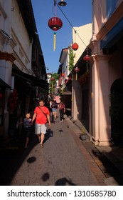 Ipoh Perak, Malaysia 2 Feb 2019 : Tourist seen at one of the famous  alley at Concubine Street located in the old Ipoh city.