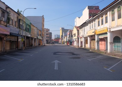 Ipoh Perak, Malaysia 2 Feb 2019 : Morning view in the street of Ipoh old city area during public holiday.