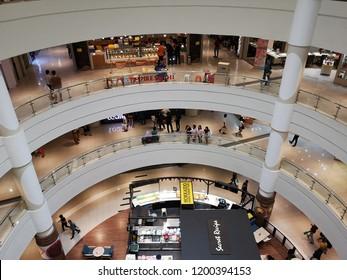 Ipoh, Perak Malaysia - 7/10/2018 : Inside view of Ipoh Parade Mall in Ipoh, Perak.