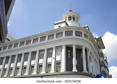 IPOH, PERAK, MALAYSIA - Dec 12, 2015 - A Victorian Neo-Renaissance heritage building in Ipoh at Belfield Street, housing the local international bank, HSBC.